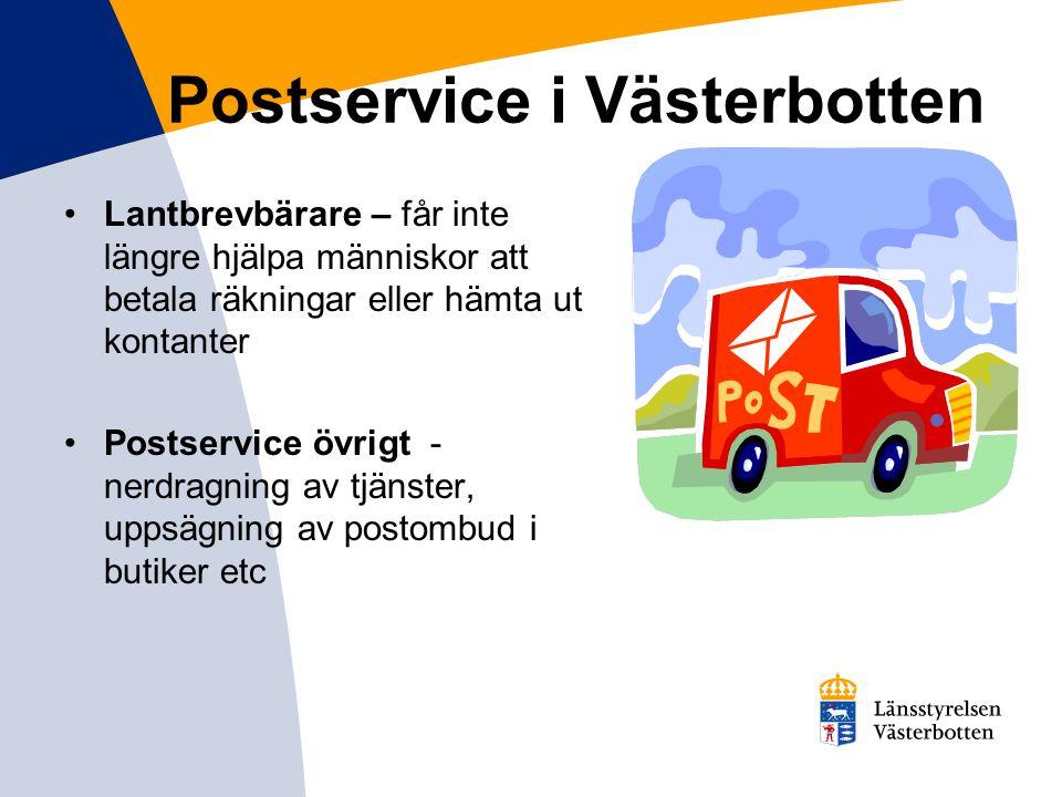 Postservice i Västerbotten