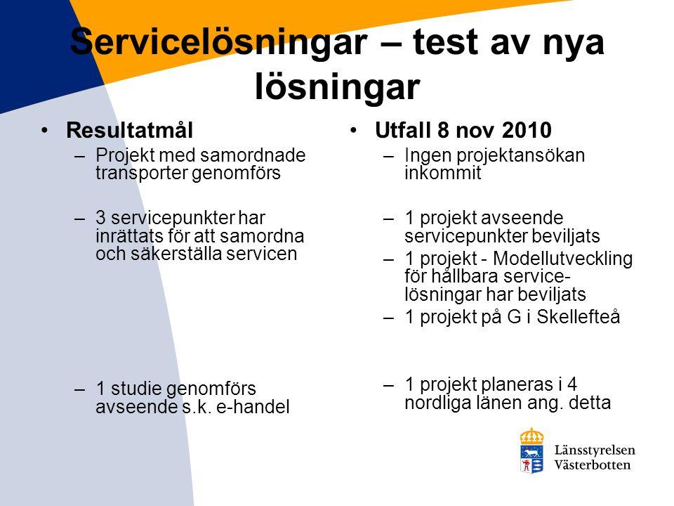 Servicelösningar – test av nya lösningar