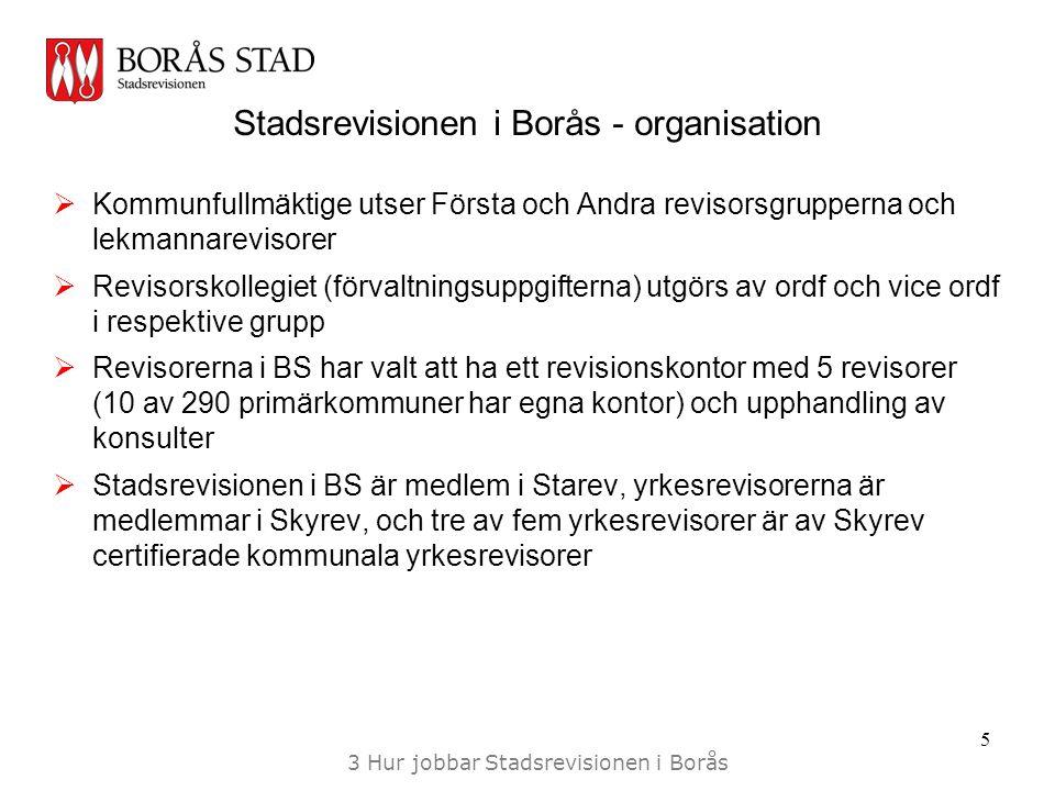 Stadsrevisionen i Borås - organisation