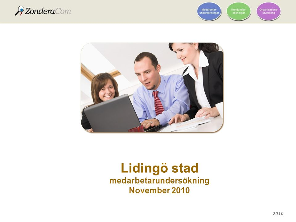 Lidingö stad medarbetarundersökning November 2010