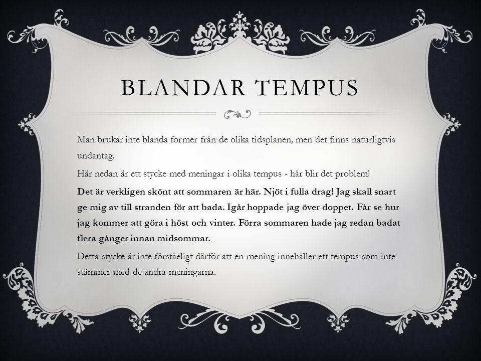 Blandar tempus