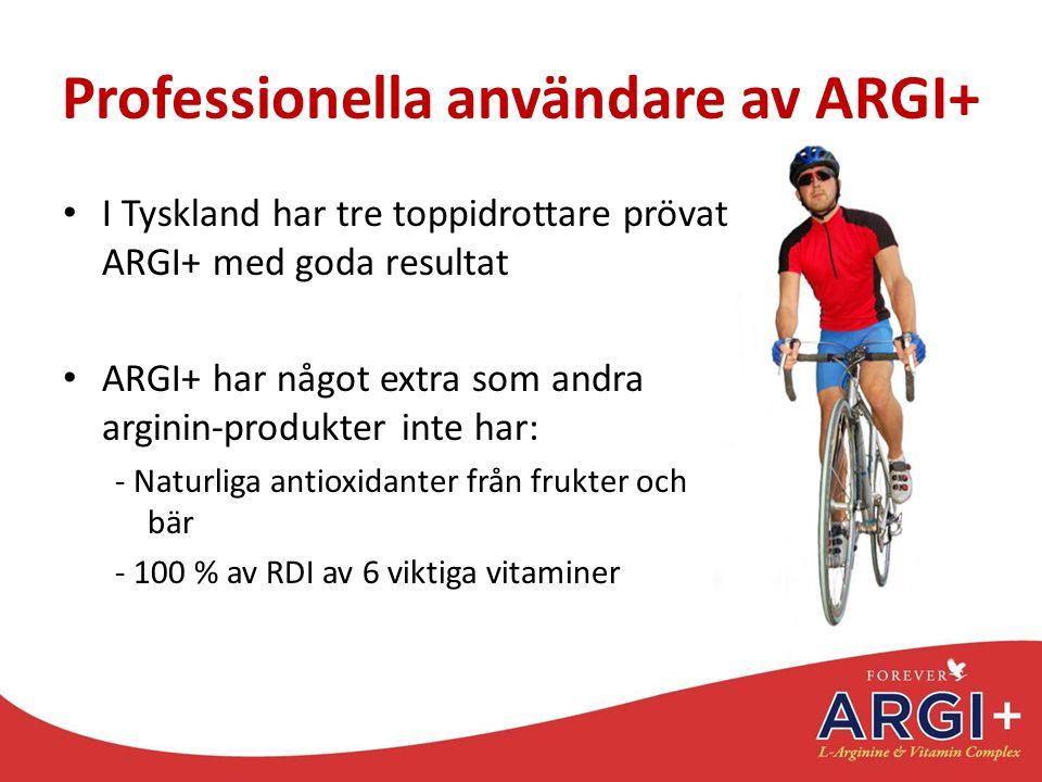 Professionella användare av ARGI+