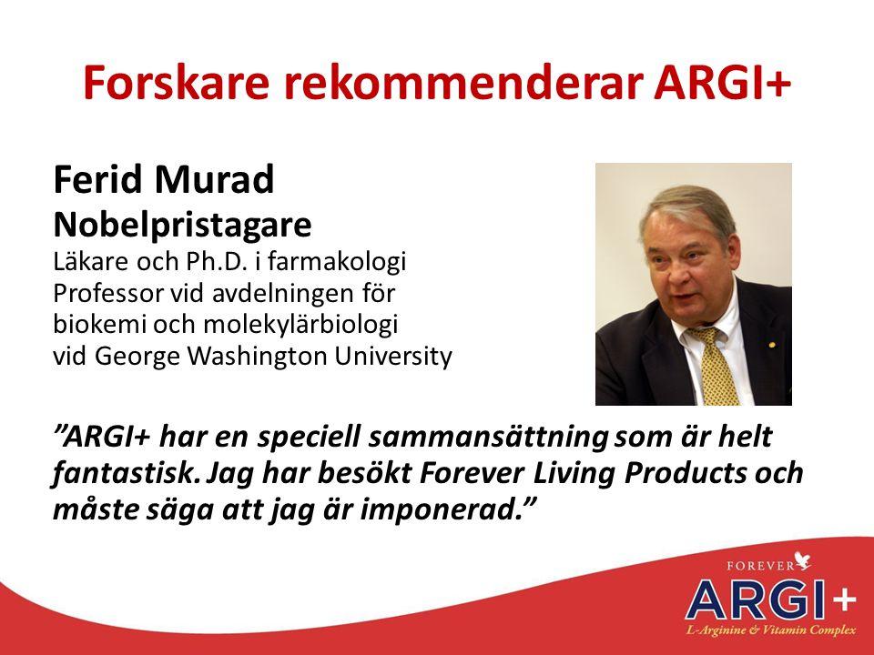 Forskare rekommenderar ARGI+