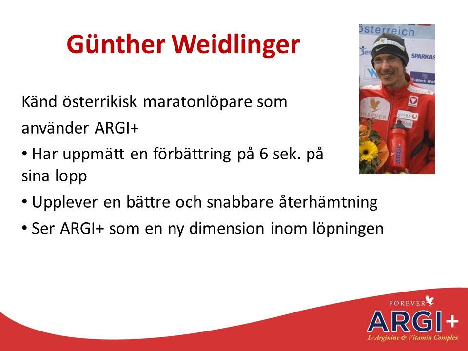 Günther Weidlinger Känd österrikisk maratonlöpare som använder ARGI+