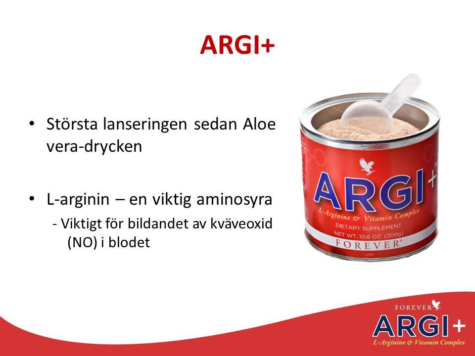 ARGI+ Största lanseringen sedan Aloe vera-drycken