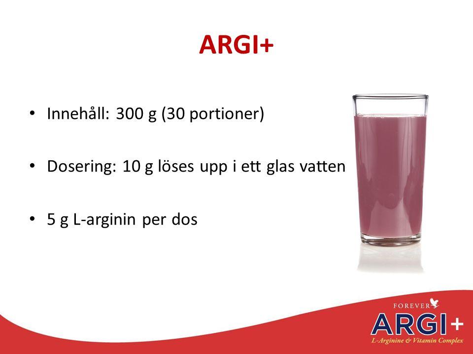 ARGI+ Innehåll: 300 g (30 portioner)