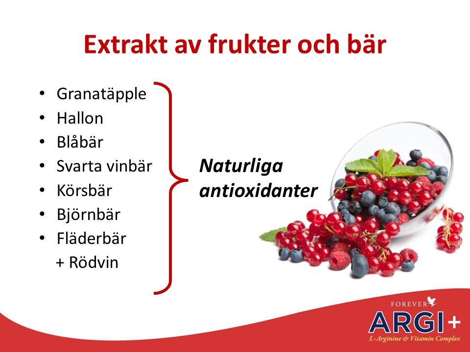 Extrakt av frukter och bär