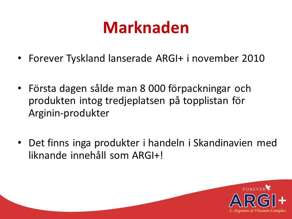 Marknaden Forever Tyskland lanserade ARGI+ i november 2010
