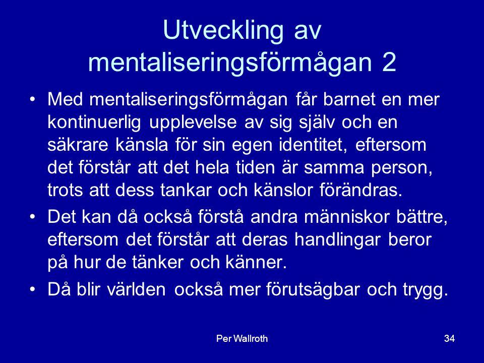 Utveckling av mentaliseringsförmågan 2