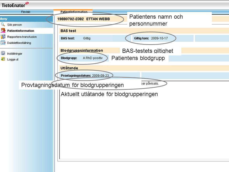 Patientens namn och personnummer