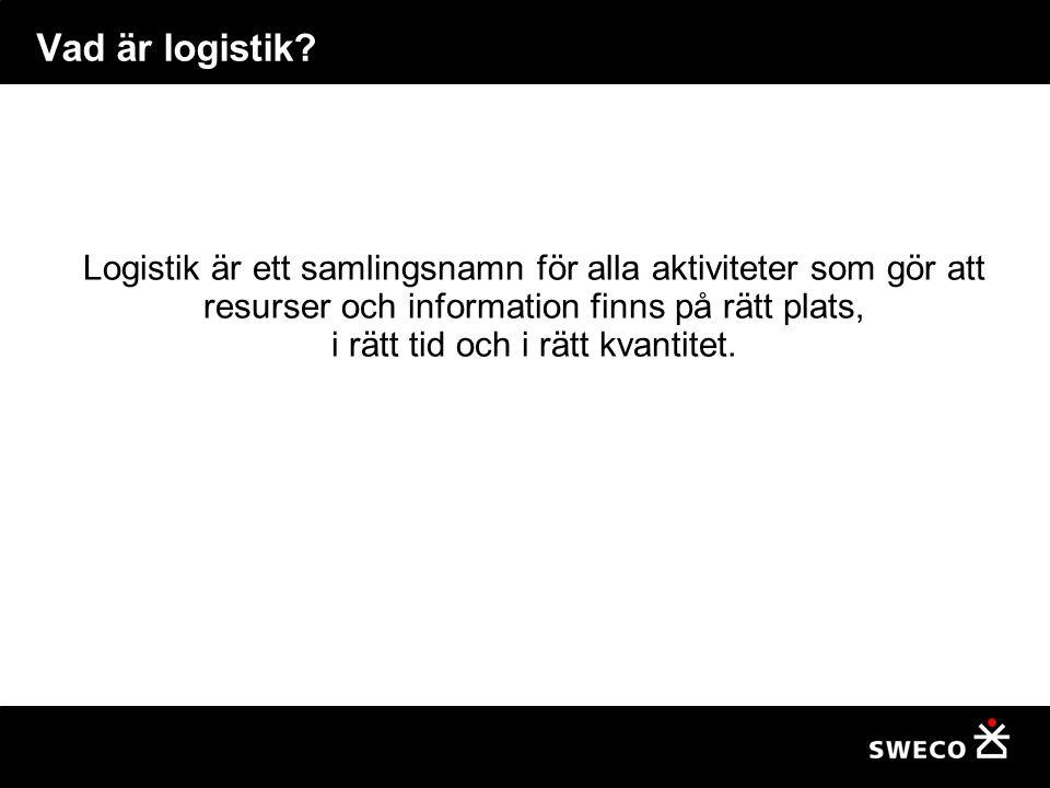 Vad är logistik