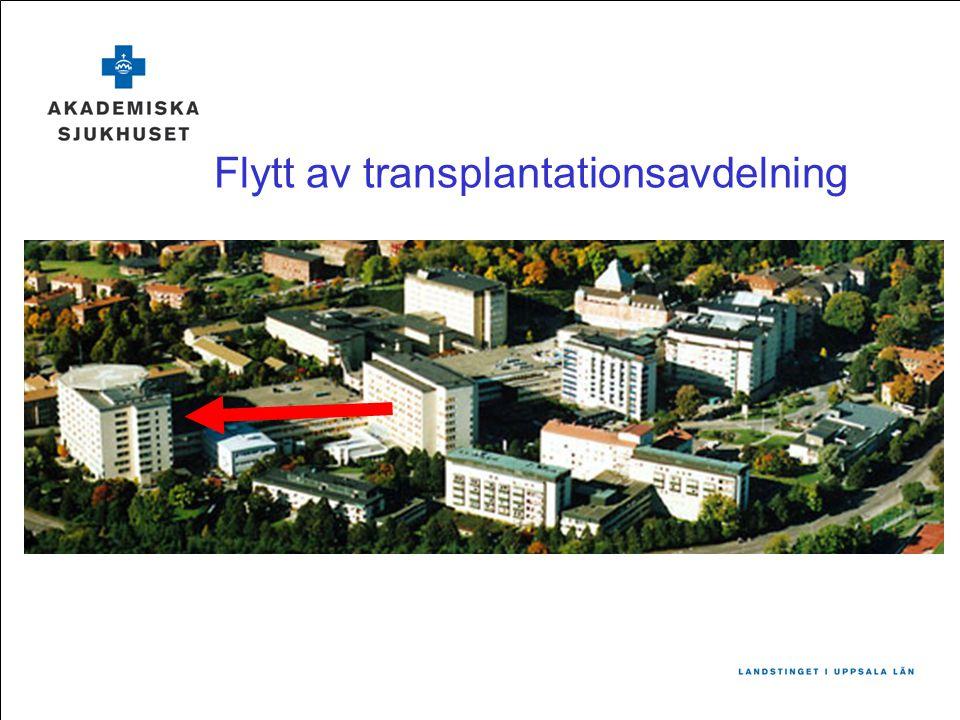 Flytt av transplantationsavdelning