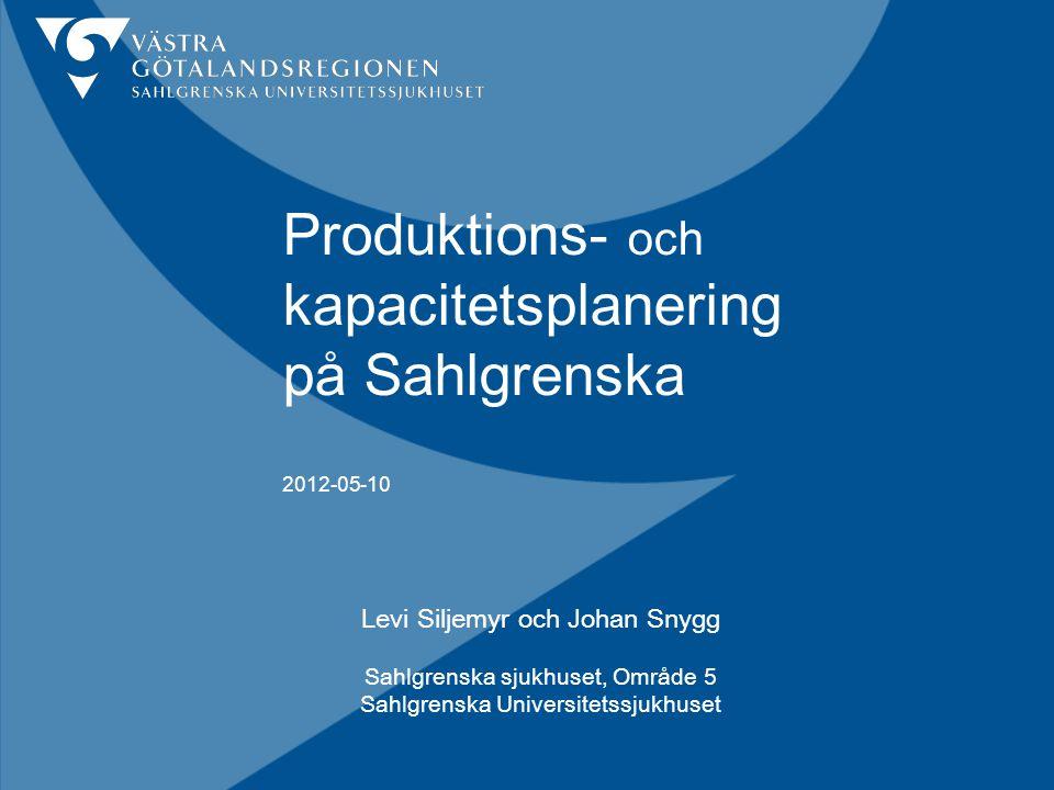 Produktions- och kapacitetsplanering på Sahlgrenska 2012-05-10