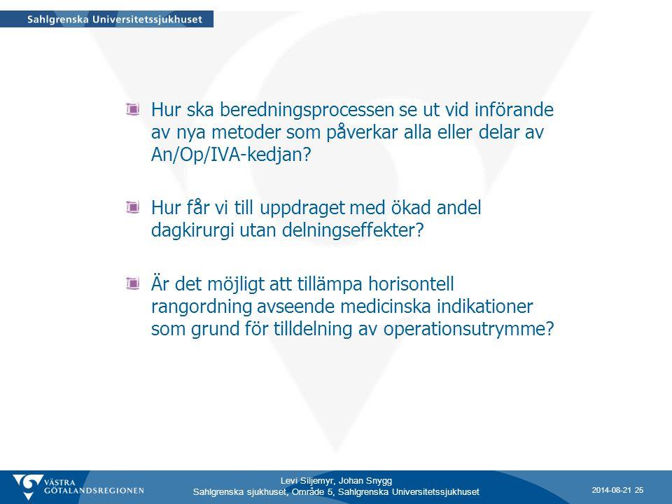Hur ska beredningsprocessen se ut vid införande av nya metoder som påverkar alla eller delar av An/Op/IVA-kedjan