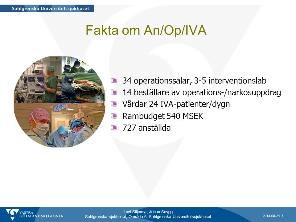 Fakta om An/Op/IVA 34 operationssalar, 3-5 interventionslab