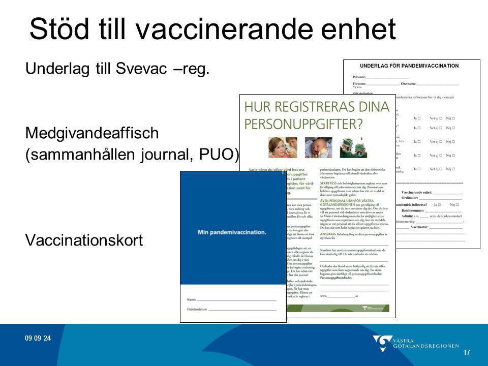 Stöd till vaccinerande enhet