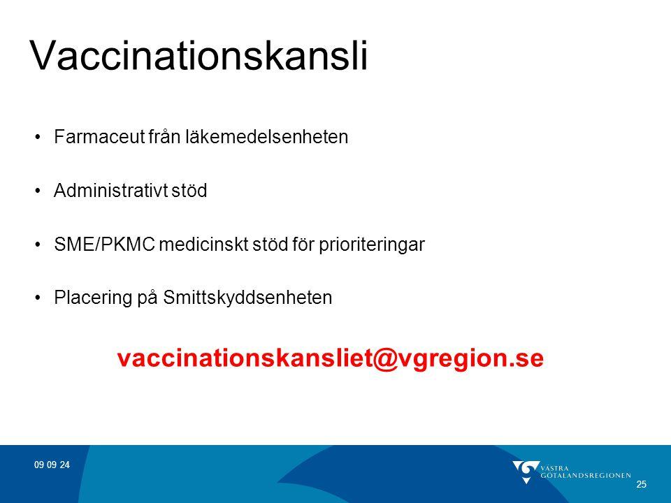 Vaccinationskansli vaccinationskansliet@vgregion.se