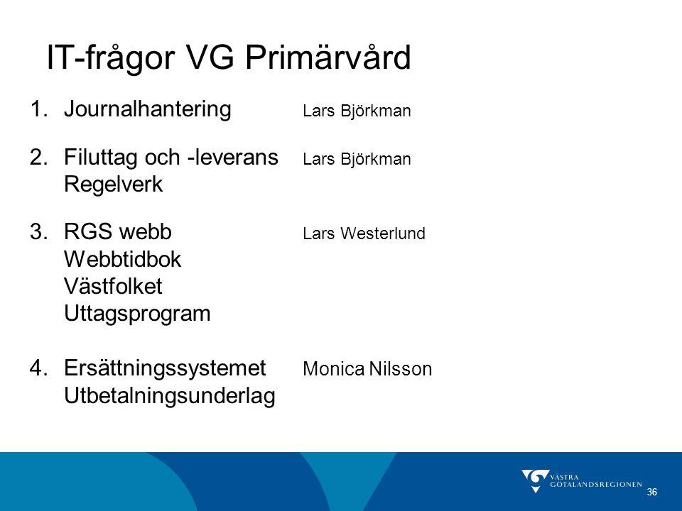 IT-frågor VG Primärvård
