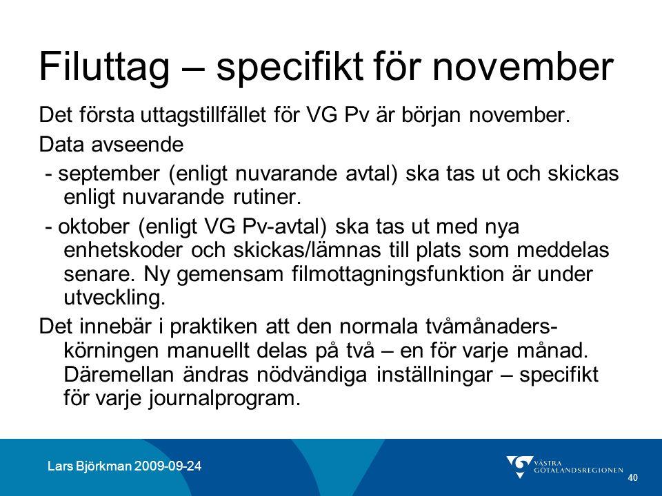 Filuttag – specifikt för november
