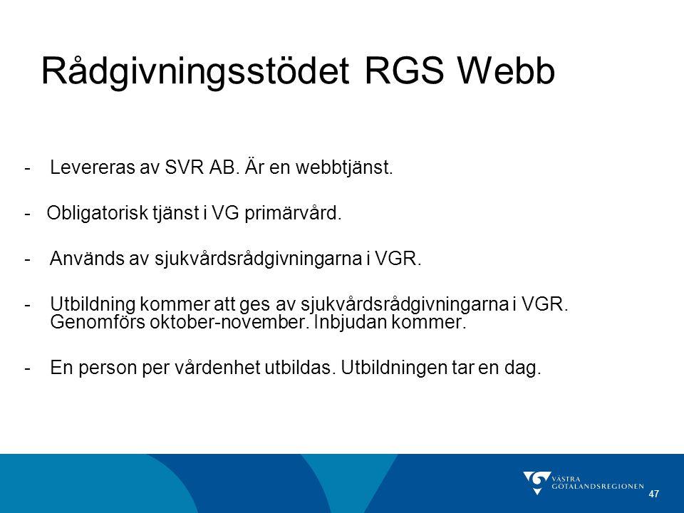 Rådgivningsstödet RGS Webb