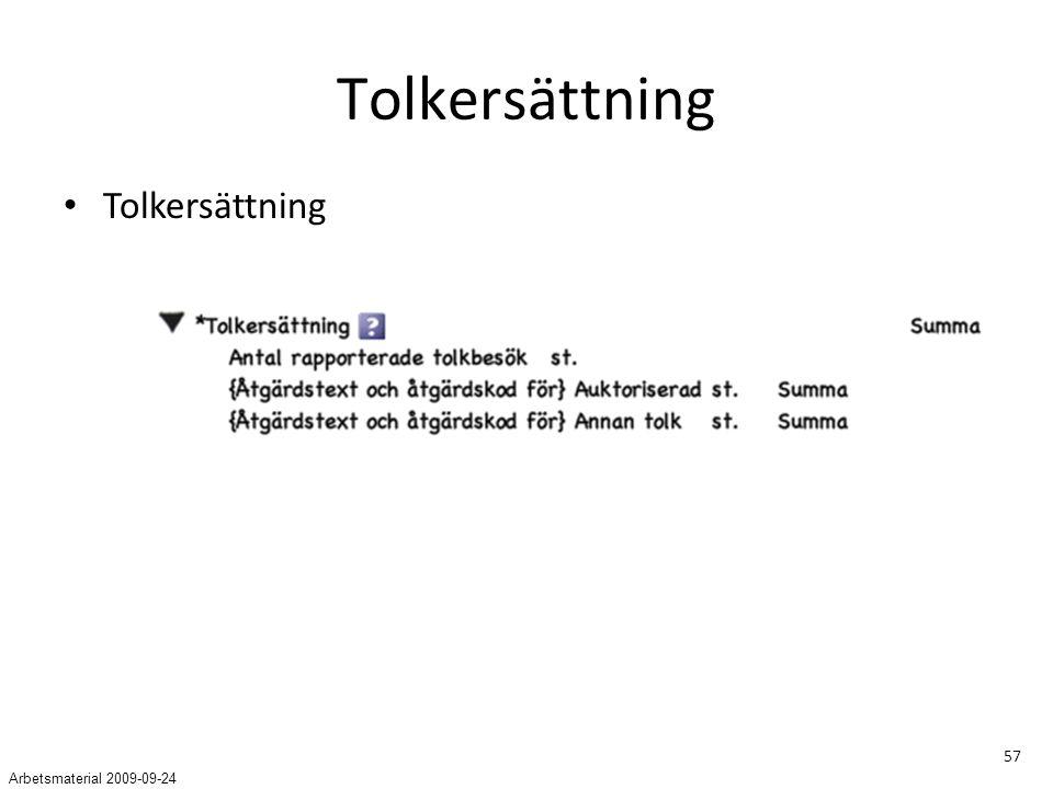 Tolkersättning Tolkersättning Arbetsmaterial 2009-09-24