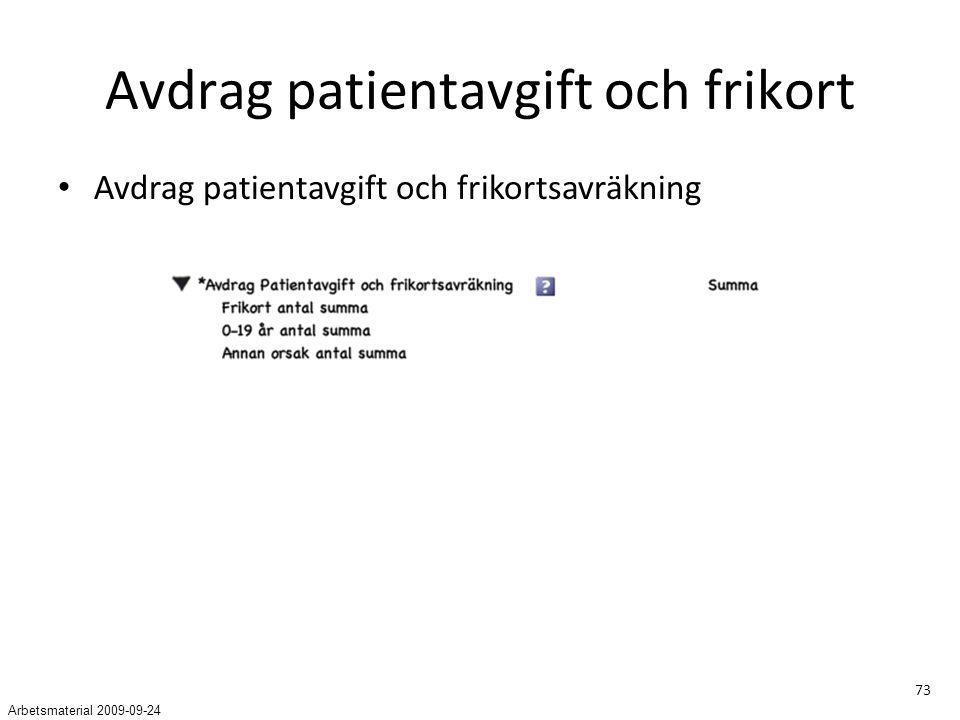 Avdrag patientavgift och frikort