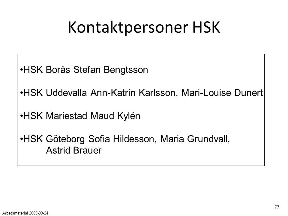 Kontaktpersoner HSK HSK Borås Stefan Bengtsson