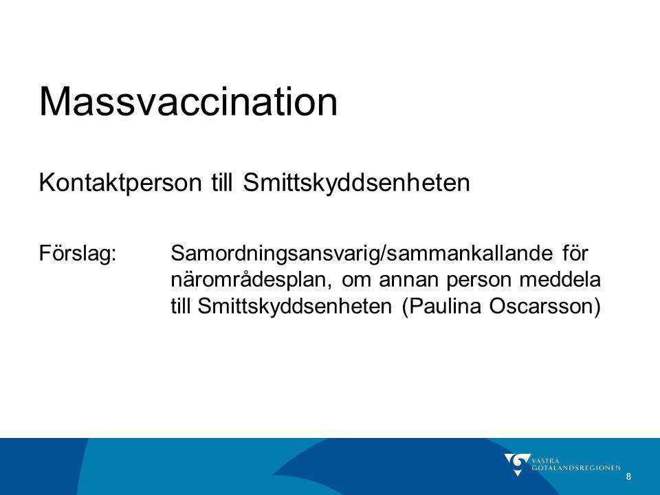 Massvaccination Kontaktperson till Smittskyddsenheten
