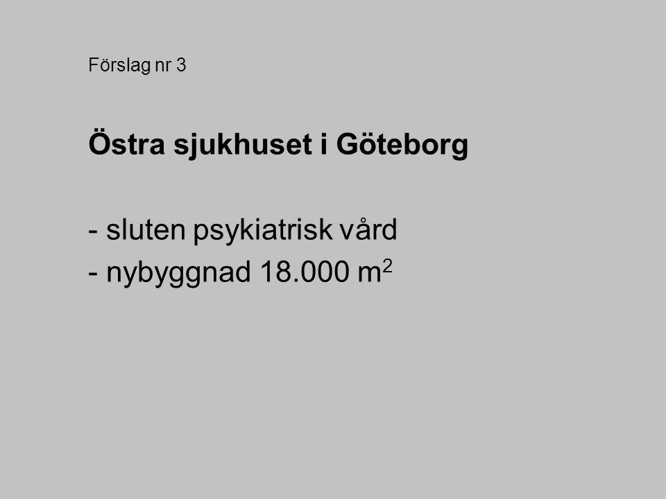 Östra sjukhuset i Göteborg - sluten psykiatrisk vård