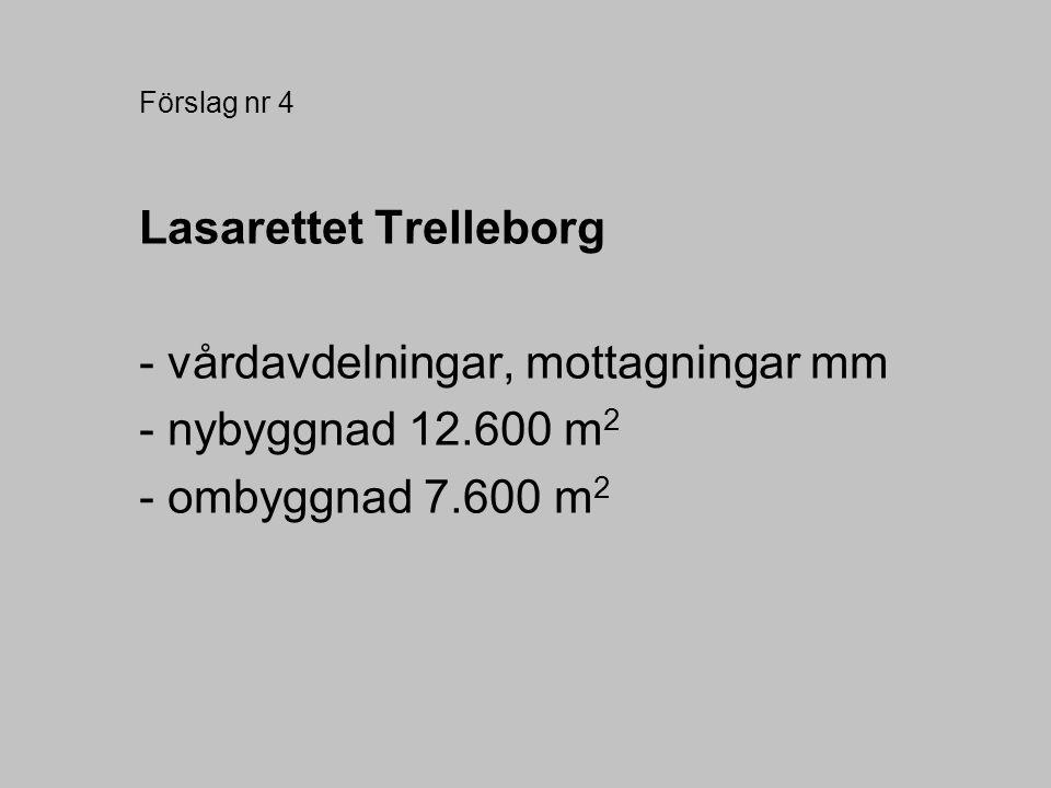 Lasarettet Trelleborg - vårdavdelningar, mottagningar mm