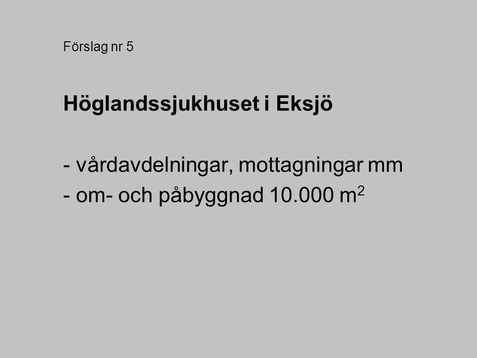 Höglandssjukhuset i Eksjö - vårdavdelningar, mottagningar mm
