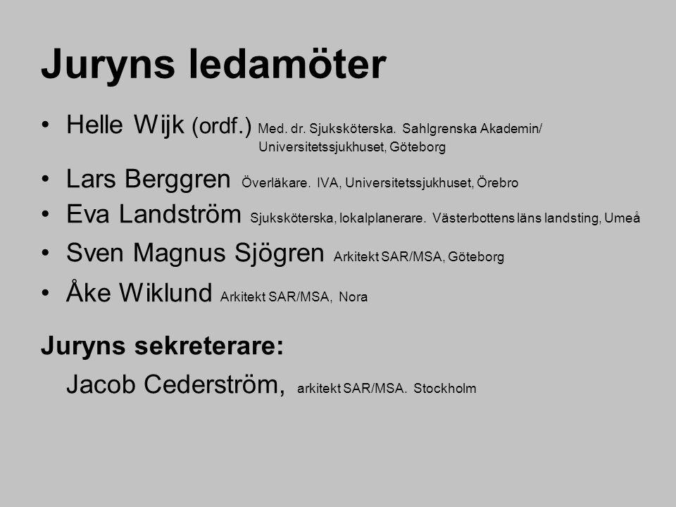 Juryns ledamöter Helle Wijk (ordf.) Med. dr. Sjuksköterska. Sahlgrenska Akademin/ Universitetssjukhuset, Göteborg.