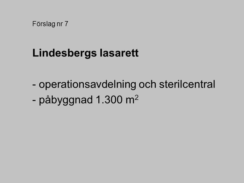 - operationsavdelning och sterilcentral - påbyggnad 1.300 m2