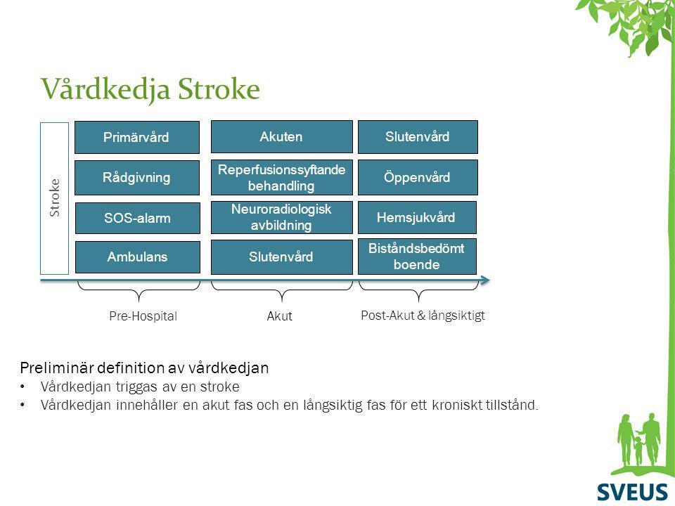 Vårdkedja Stroke Preliminär definition av vårdkedjan Stroke