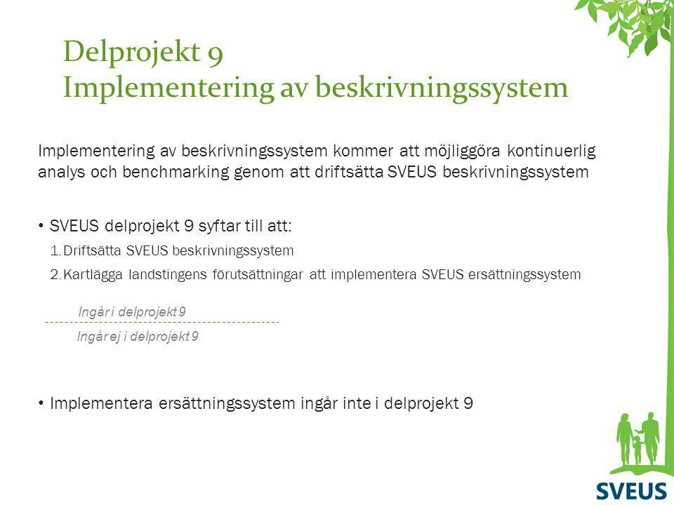 Delprojekt 9 Implementering av beskrivningssystem