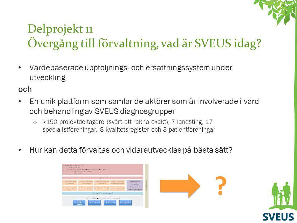 Delprojekt 11 Övergång till förvaltning, vad är SVEUS idag