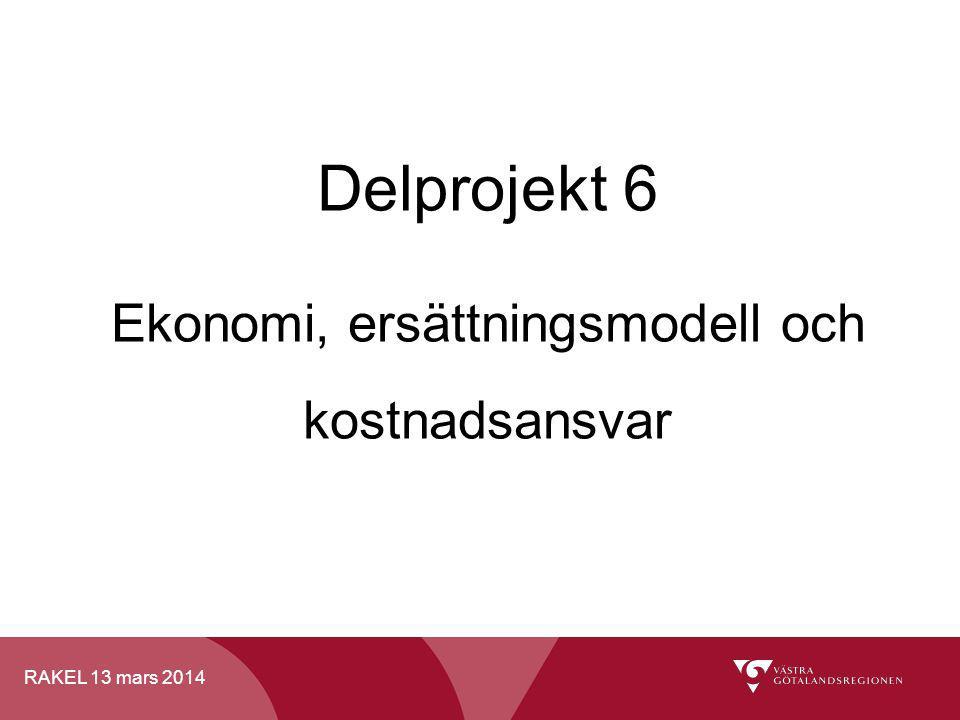 Delprojekt 6 Ekonomi, ersättningsmodell och kostnadsansvar