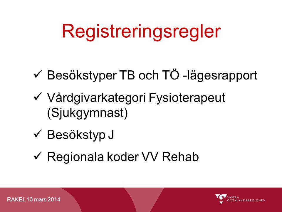 Registreringsregler Besökstyper TB och TÖ -lägesrapport
