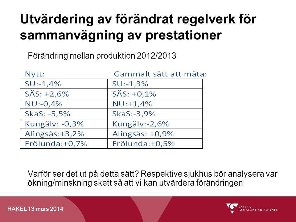 Utvärdering av förändrat regelverk för sammanvägning av prestationer