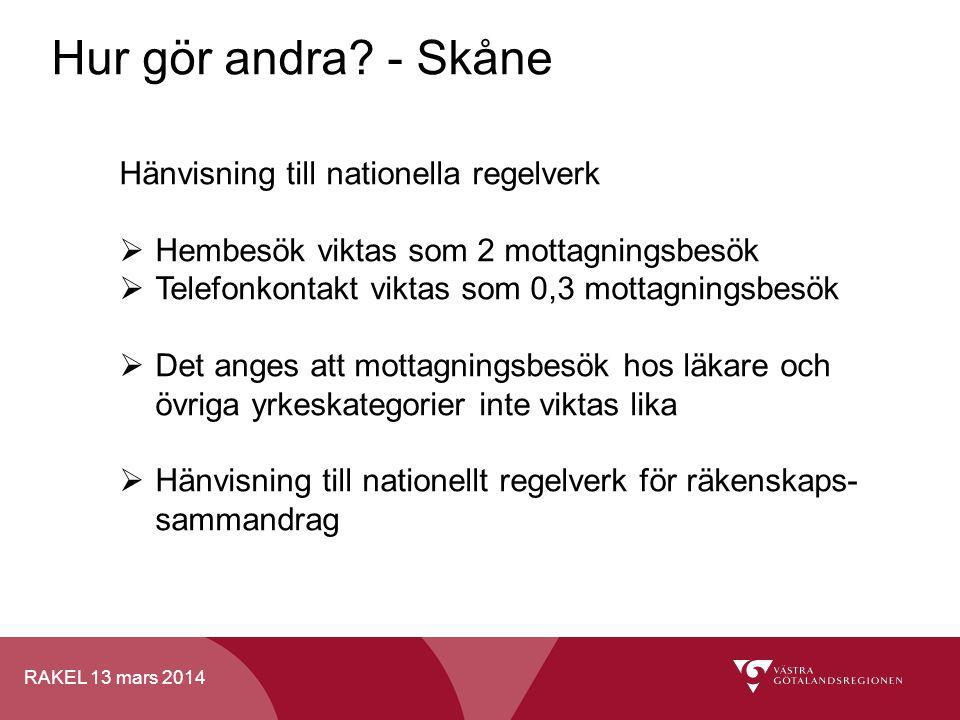 Hur gör andra - Skåne Hänvisning till nationella regelverk