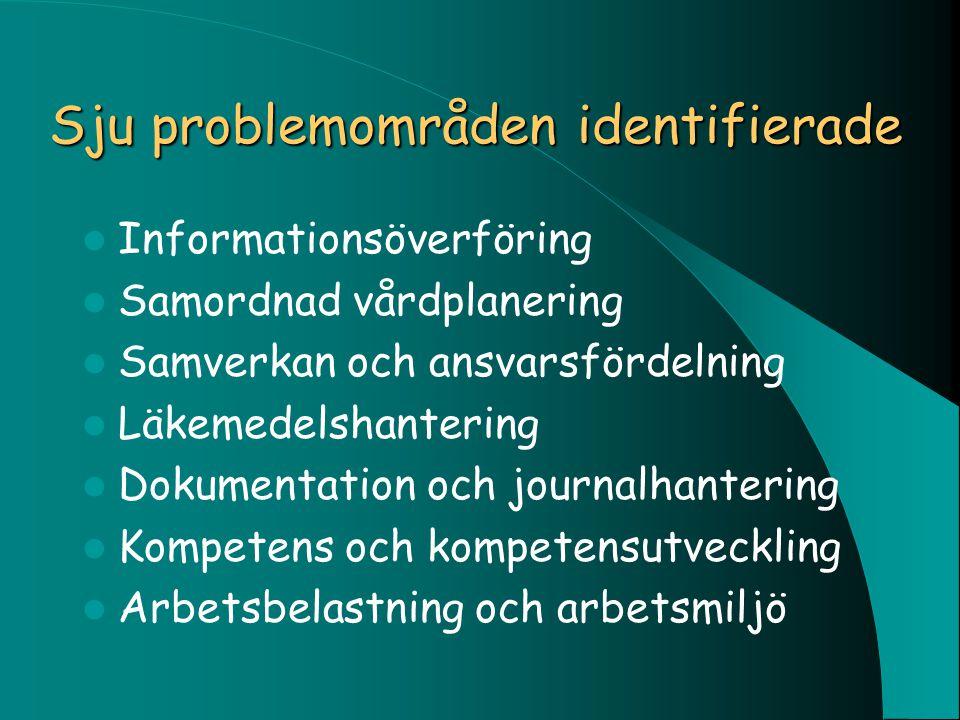 Sju problemområden identifierade