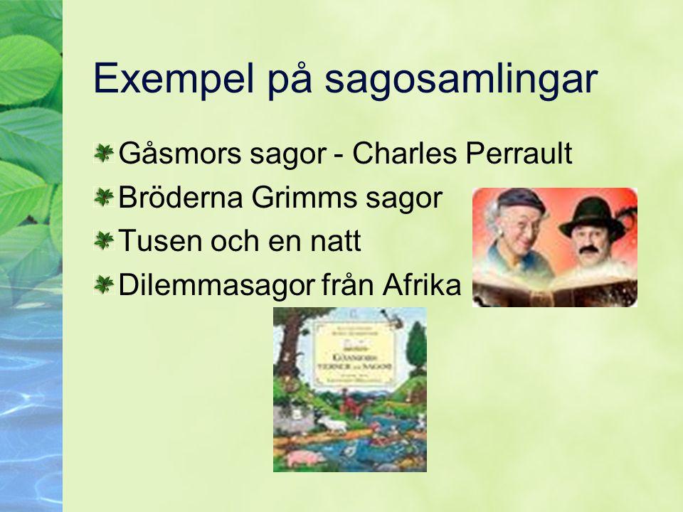 Exempel på sagosamlingar