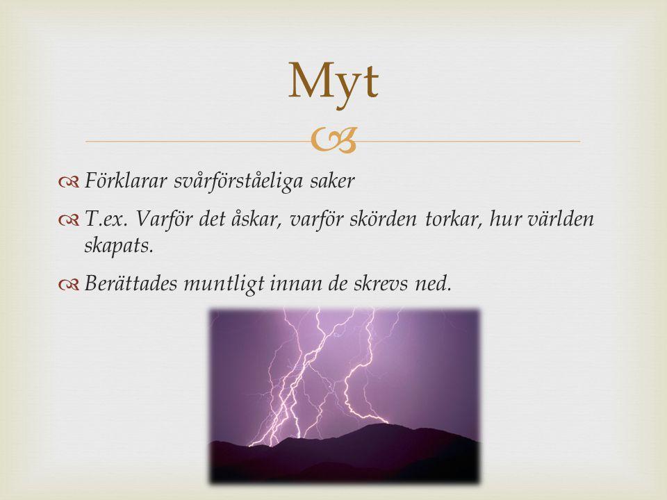 Myt Förklarar svårförståeliga saker