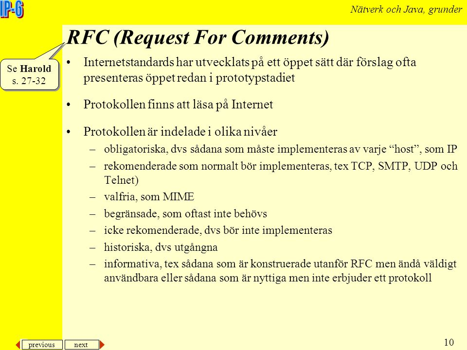 RFC (Request For Comments)