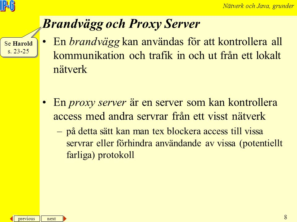 Brandvägg och Proxy Server