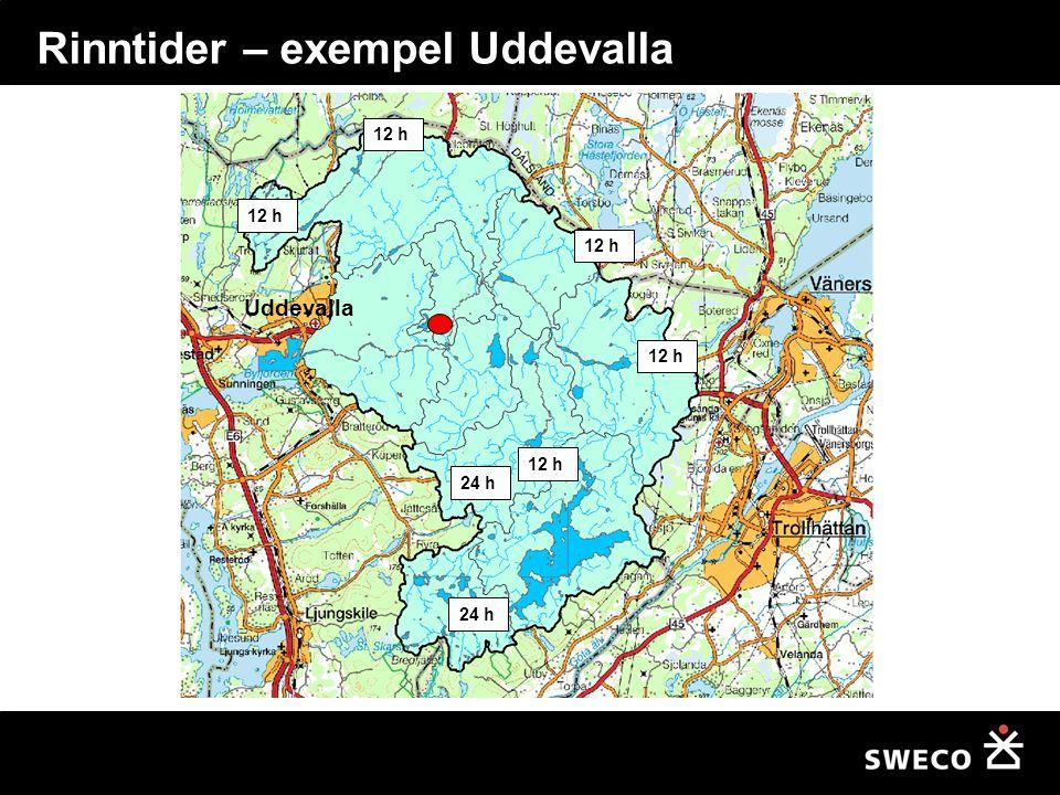 Rinntider – exempel Uddevalla
