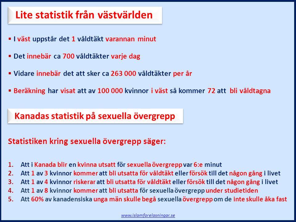 Lite statistik från västvärlden