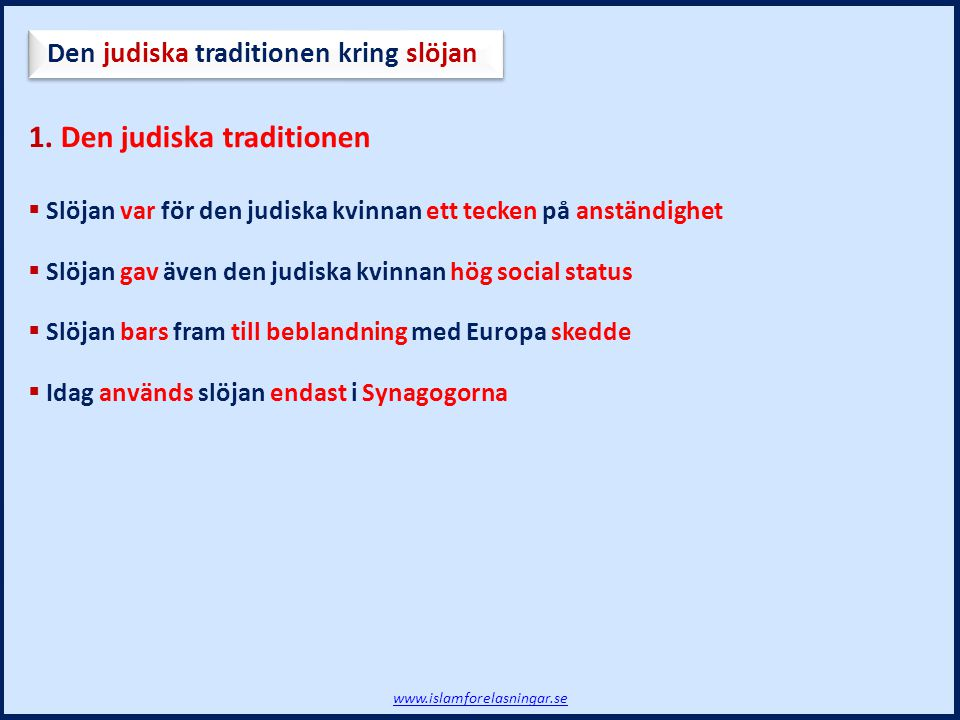1. Den judiska traditionen