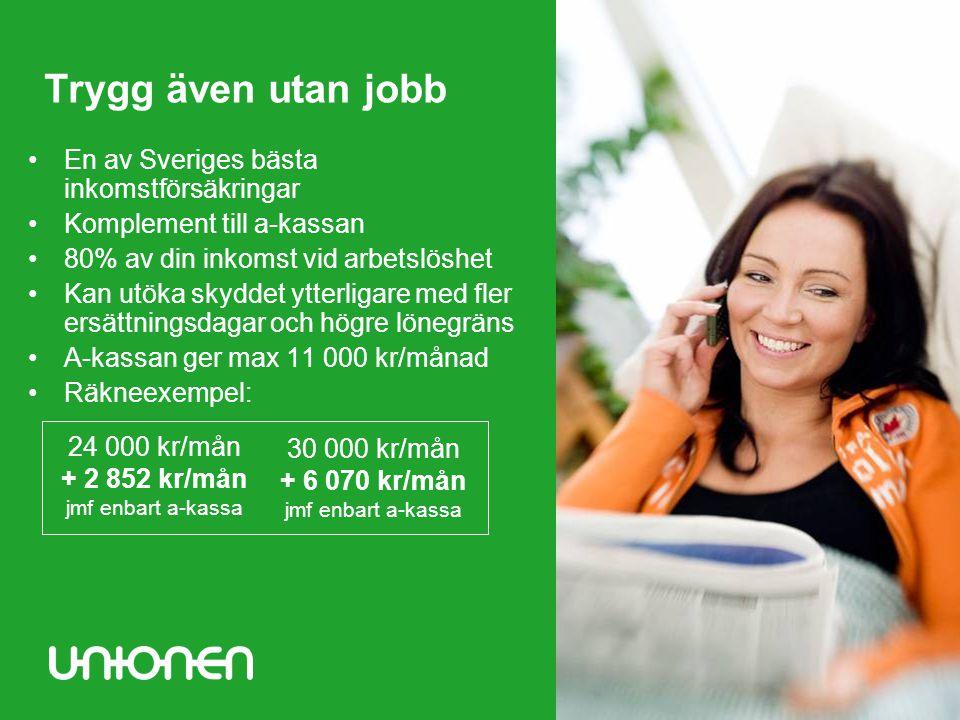Trygg även utan jobb En av Sveriges bästa inkomstförsäkringar