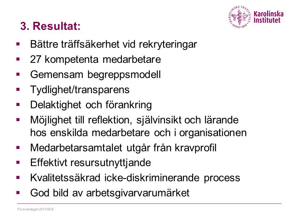 3. Resultat: Bättre träffsäkerhet vid rekryteringar